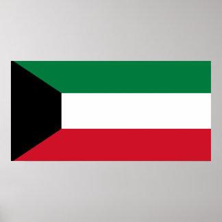 Kuwait National World Flag Poster