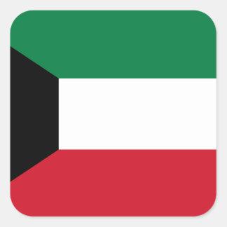 Kuwait National World Flag Square Sticker