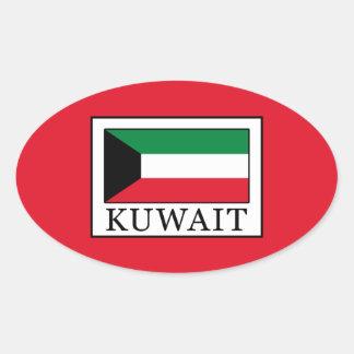 Kuwait Oval Sticker