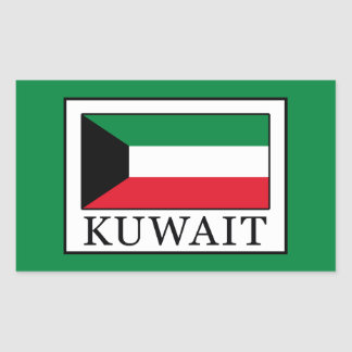 Kuwait Rectangular Sticker