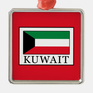 Kuwait Silver-Colored Square Decoration
