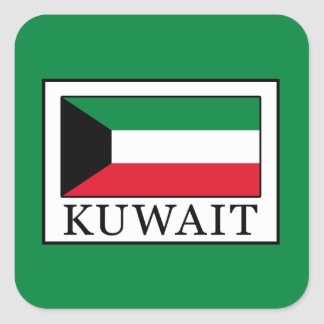 Kuwait Square Sticker