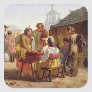 Kvas Seller, 1862 Square Sticker