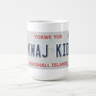 Kwaj Kid Vanity License Plate Coffee Mug