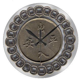 Kwan Yin Medallion Large Clock