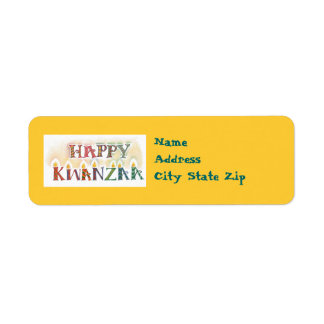 Kwanzaa Address Labels