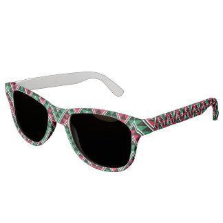 Kwanzaa African Geometric Print - Chevron Sunglasses