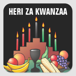 Kwanzaa Blessing Square Sticker