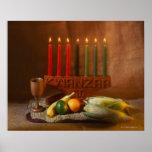 Kwanzaa Candles and Food