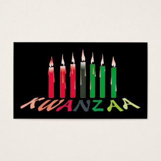 Kwanzaa Candles Business/hand out Card