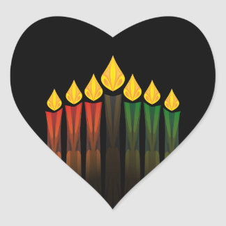 kwanzaa candles heart sticker