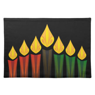 kwanzaa candles placemat