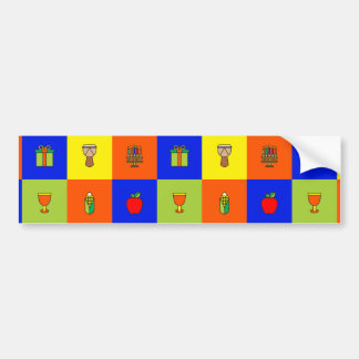 kwanzaa colorblock bumper sticker