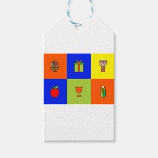kwanzaa colorblock gift tags