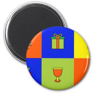 kwanzaa colorblock magnet