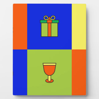 kwanzaa colorblock plaque