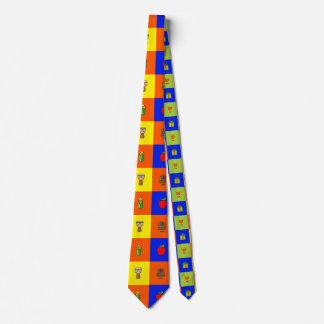 kwanzaa colorblock tie