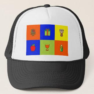 kwanzaa colorblock trucker hat