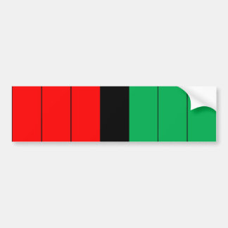 Kwanzaa Colors Red Black Green Stripes Pattern Bumper Sticker
