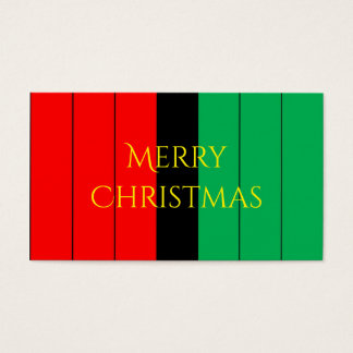 Kwanzaa Colors Red Black Green Stripes Pattern Business Card