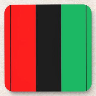Kwanzaa Colors Red Black Green Stripes Pattern Coaster
