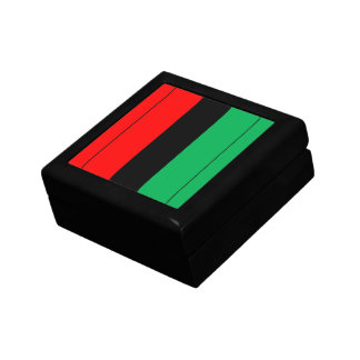 Kwanzaa Colors Red Black Green Stripes Pattern Gift Box