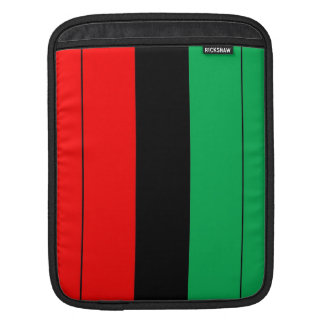 Kwanzaa Colors Red Black Green Stripes Pattern iPad Sleeve