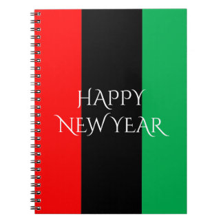 Kwanzaa Colors Red Black Green Stripes Pattern Notebook