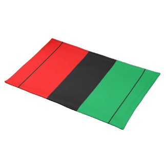 Kwanzaa Colors Red Black Green Stripes Pattern Placemat