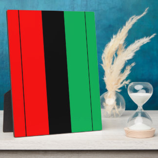 Kwanzaa Colors Red Black Green Stripes Pattern Plaque