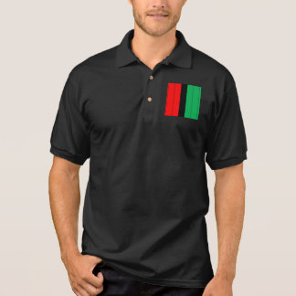 Kwanzaa Colors Red Black Green Stripes Pattern Polo Shirt