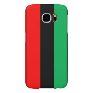 Kwanzaa Colors Red Black Green Stripes Pattern Samsung Galaxy S6 Cases