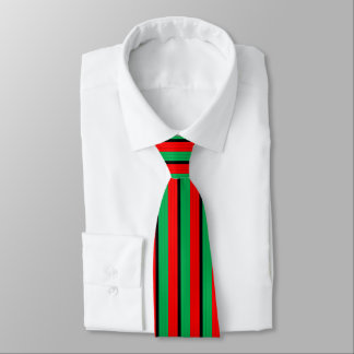 Kwanzaa Colors Red Black Green Stripes Pattern Tie