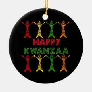 Kwanzaa Dancers Ceramic Ornament