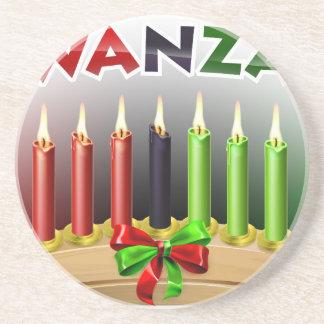 Kwanzaa Design Coaster