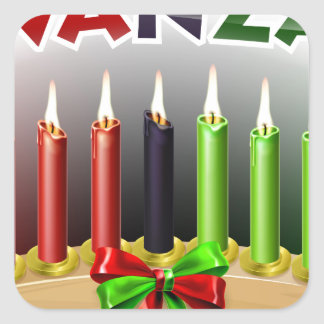 Kwanzaa Design Square Sticker