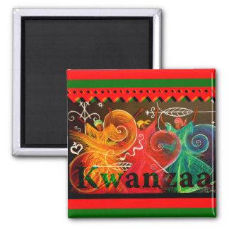 Kwanzaa - Designs Square Magnet