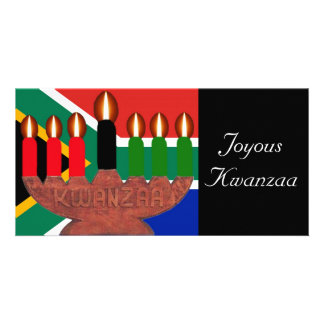 kwanzaa kinaras South Africa Photo Greeting Card