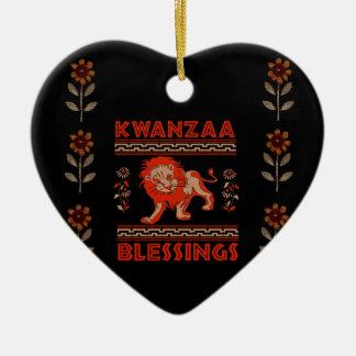 Kwanzaa Lion Ceramic Ornament