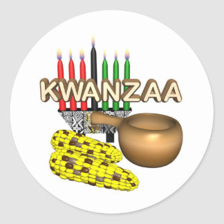Kwanzaa Purpose Holiday Classic Round Sticker