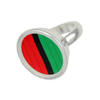 Kwanzaa Red Black Green Kinara Striped Pattern