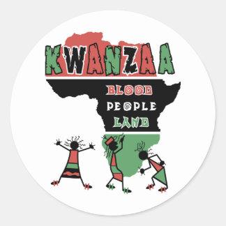kwanzaa round sticker