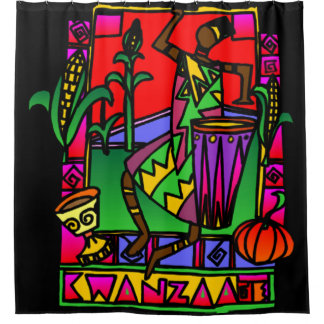 Kwanzaa Shower Curtain