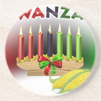 Kwanzaa Sign Coaster