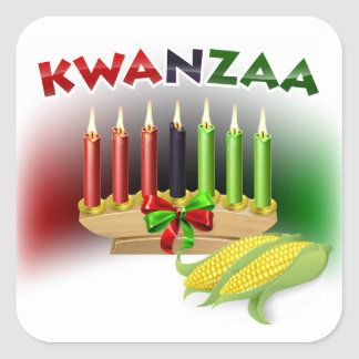 Kwanzaa Sign Square Sticker