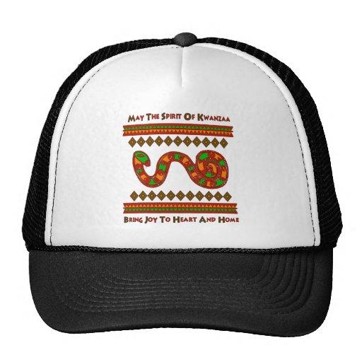 Kwanzaa Snake Trucker Hats