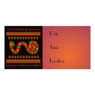 Kwanzaa Snake Photo Card Template