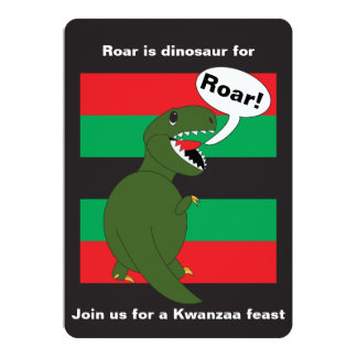 Kwanzaa Tyrannosaurus Rex Custom Card