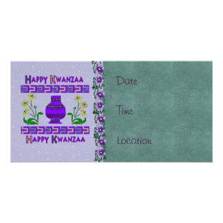 Kwanzaa Vase Photo Card Template