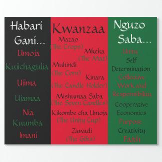 Kwanzaa Zawadi Wrapping Paper
